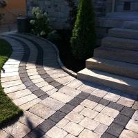 Interlocking Stone and Natural Stone Steps