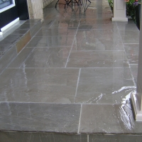 Cover Bare Concrete with Natural Stone Tile