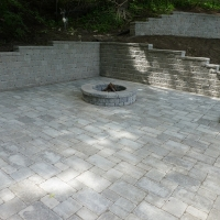 Scarborough Bluffs retaining wall - circular firepit