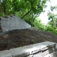 Scarborough Bluffs retaining walls